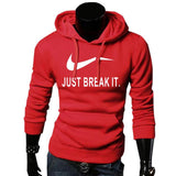 pull-just break it-capuche-qualité-promo-rouge
