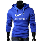 pull-just break it-capuche-qualité-promo-bleu