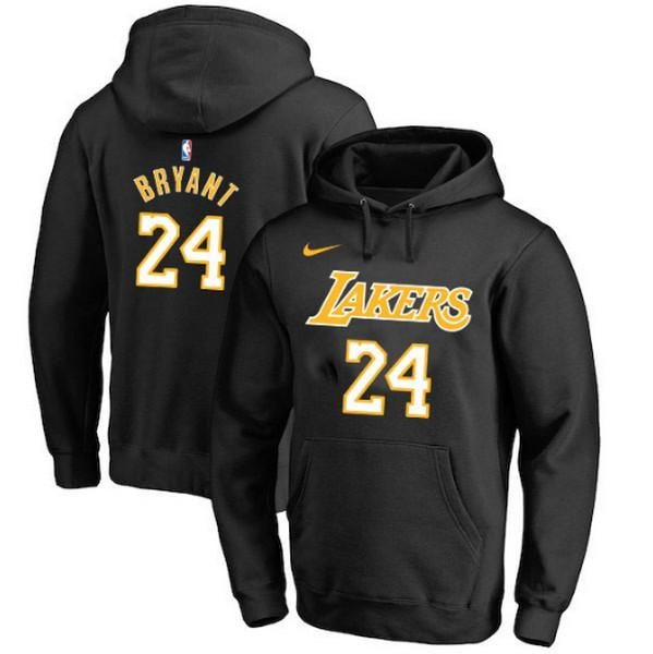 pull-hoodie-qualité-hiver-lakers-bryant-Noir