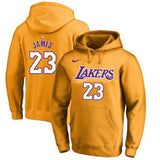 pull-hoodie-qualité-hiver-lakers-labron-jaune