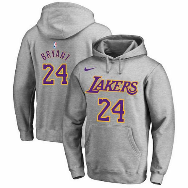 pull-hoodie-qualité-hiver-lakers-bryant-gris