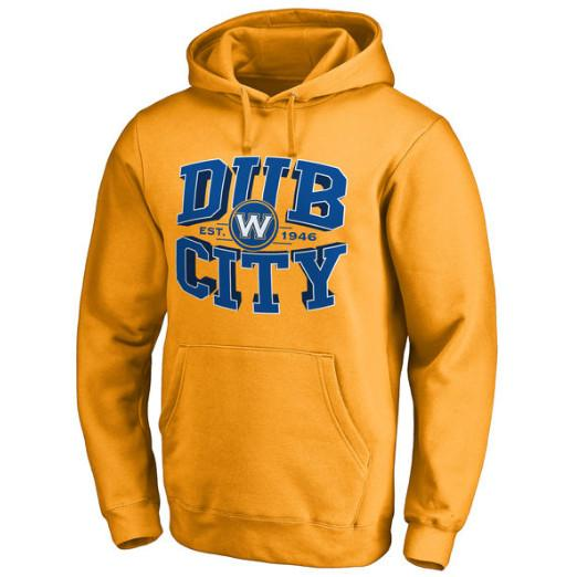 pull-hoodie-qualité-hiver-warriors-golden state-jaune-dub city