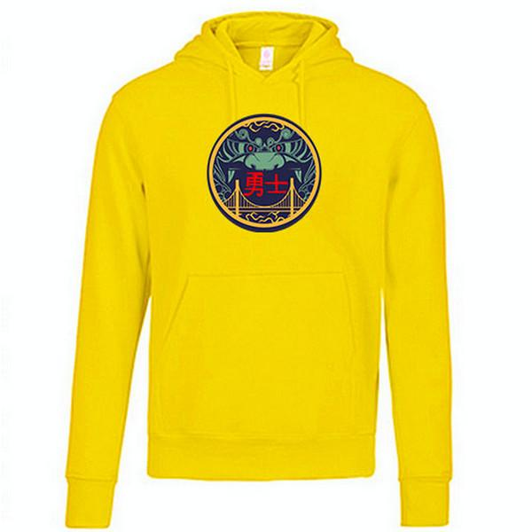 pull-hoodie-qualité-hiver-warriors-golden state-jaune