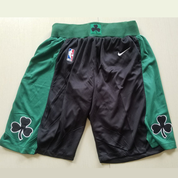 short-boston-brodé-promo-noir-celtics