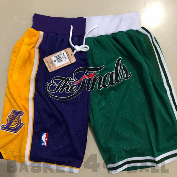 short-finals-nba-boston-lakers-brodé-poches-just don-vert-2008--finale
