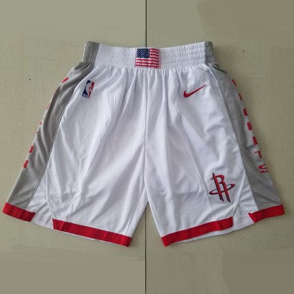 short-houston-rockets-2020-brodé-blanc
