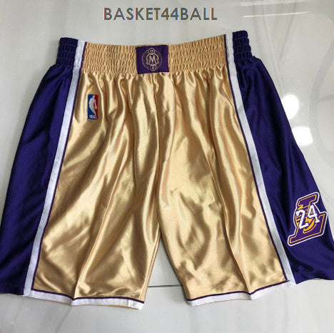 short-kobe-icon-hommage-mitchell & ness-hall of fame-kobe-bryant-jaune-8