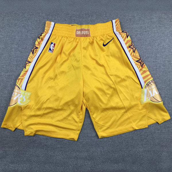 short-lakers-2020-city-jaune-brodé