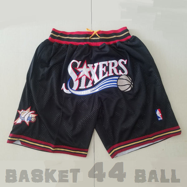 short-nba-76ers-sixers-brodé-poches-just don-1999-2000
