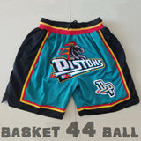 short-nba-detroit-pistons-brodé-poches-just don-bleu