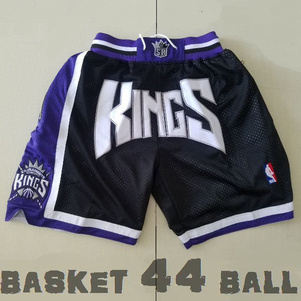 short-nba-kings-sacremento-brodé-poches-just don-noir