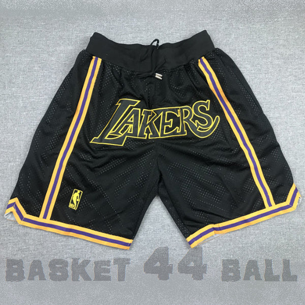 short-nba-lakers-los angeles-brodé-noir-poches-just don-2