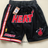 short-nba-miami-heat-brodé-poches-just don
