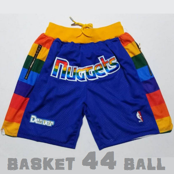 short-nba-nuggets-rainbow-brodé-poches-just don-bleu