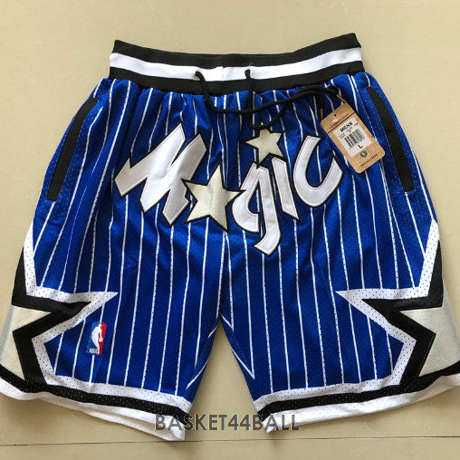 short-nba-orlando-magic-brodé-poches-bleu-just don