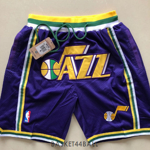 short-nba-utah-jazz-brodé-poches-just don