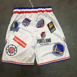 "Short ""NBA LOGO"" (Supreme) Blanc"