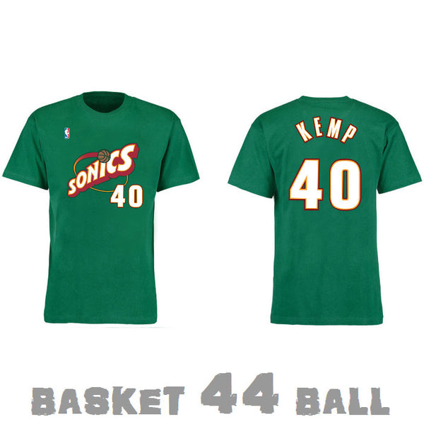 tshirt-old school-nba-KEMP-seattle-supersonics-sonics-vert