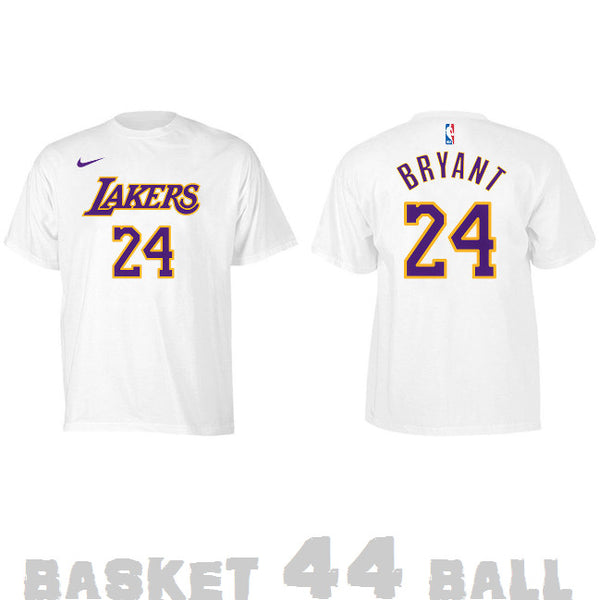 tshirt-old school-nba-kobe-lakers-blanc
