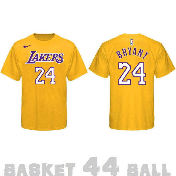 tshirt-old school-nba-kobe-lakers-jaune