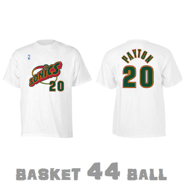 tshirt-old school-nba-payton-seattle-supersonics-sonics-blanc