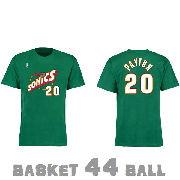 tshirt-old school-nba-payton-seattle-supersonics-sonics-vert