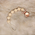 Rose Gold London Pacifier Clip - Dear Baby Kay