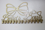 Personalized Metal Bow Rack