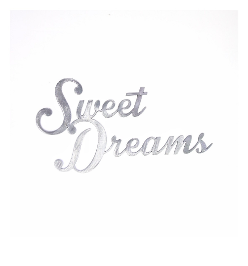 Sweet Dreams Metal Wall Sign
