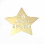 Shh... Baby is Sleeping Wall Sign