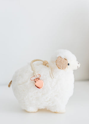 Rose Gold & Ivory Pacifier Clip