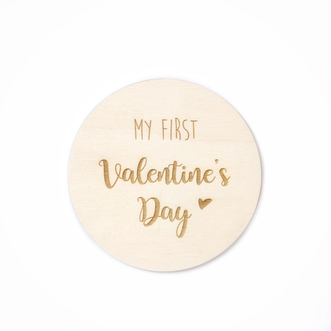 My First Valentines Day | Wooden Photo Prop