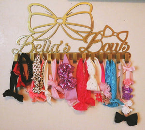 Personalized Metal Name Bow Rack