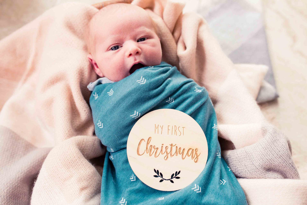 My First Christmas Card | Wooden Photo Prop