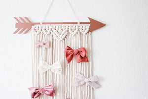Metal Arrow Macrame Wall Hanging | Bow Holder