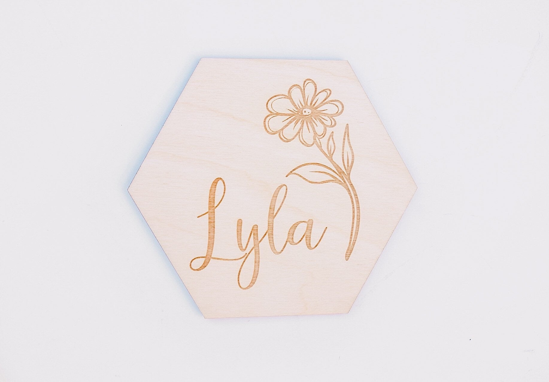 Custom Name Hexagon Card | Sunflower