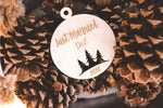 Just Married Christmas Ornament | Wooden | Personalized