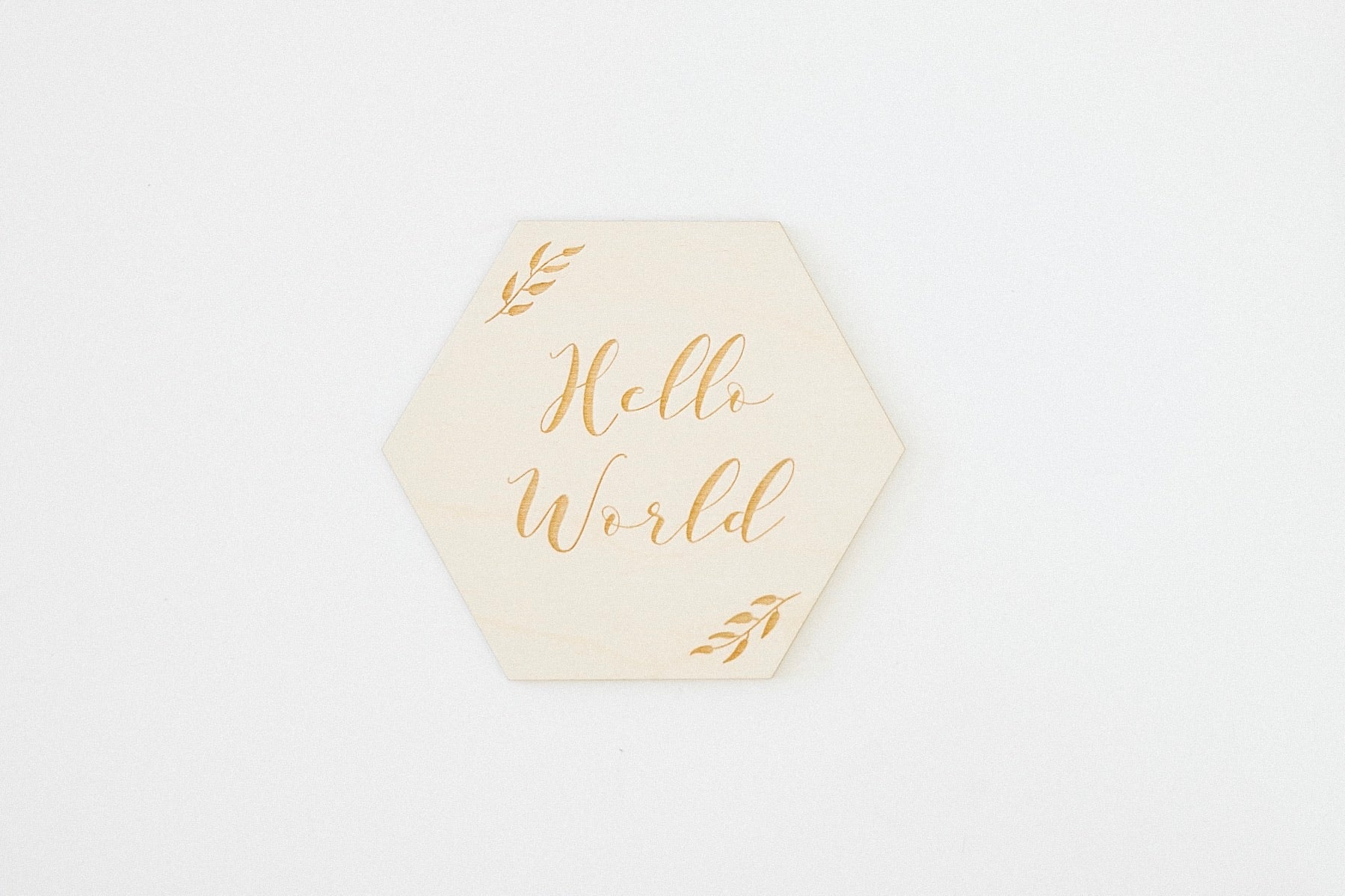 Hello World Hexagon | Announcement Card