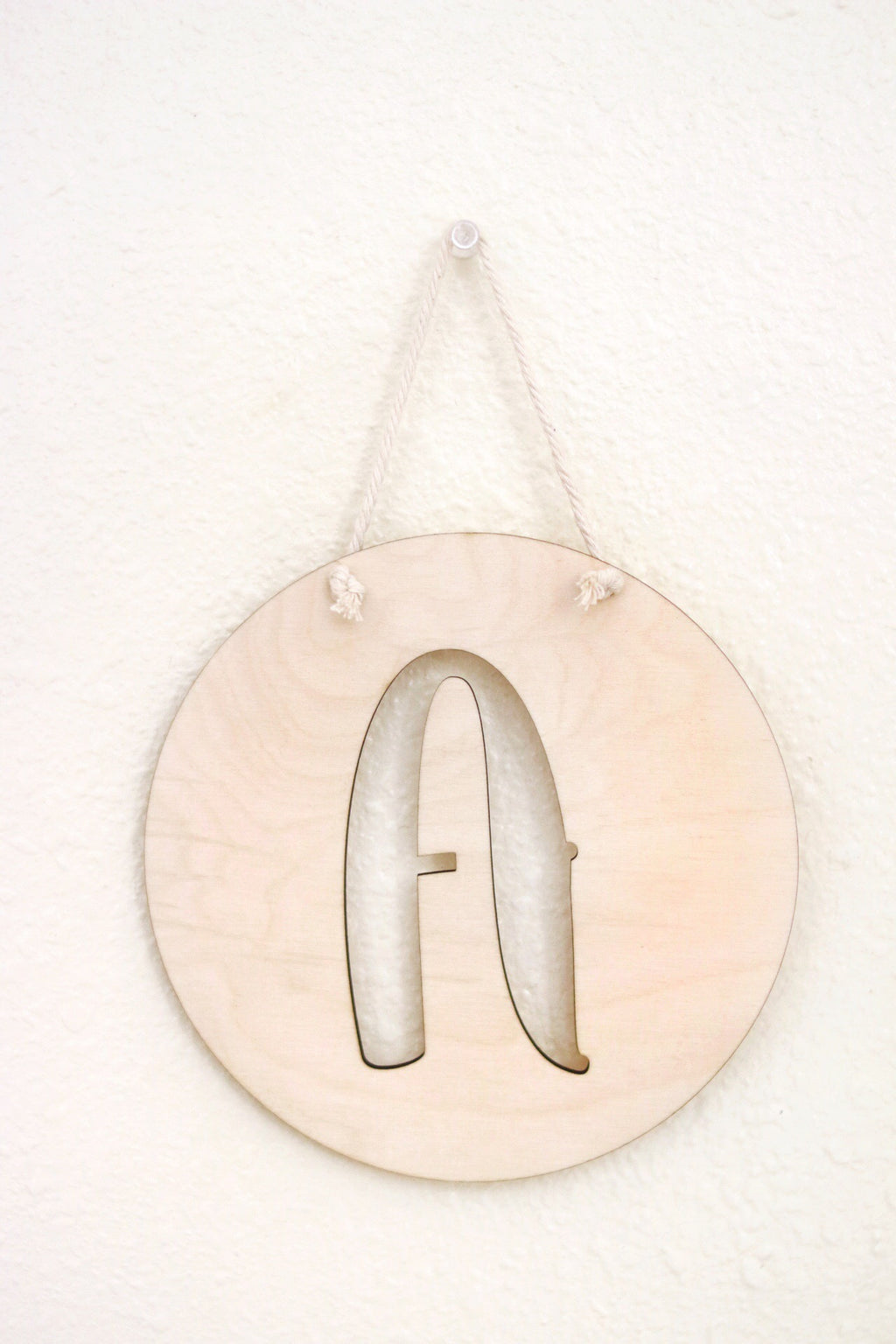 Hanging Wooden Letter Plaque | Customizable
