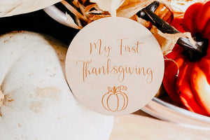 My First Thanksgiving | Milestone Card