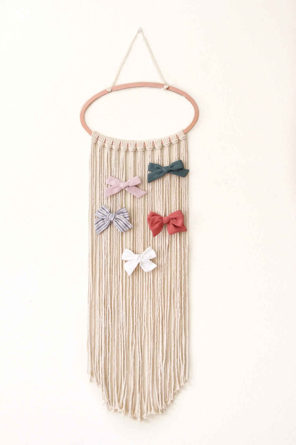 Macrame Bow Holder / Wall Hanging