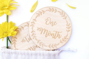Wooden Milestone Cards - Dear Baby Kay