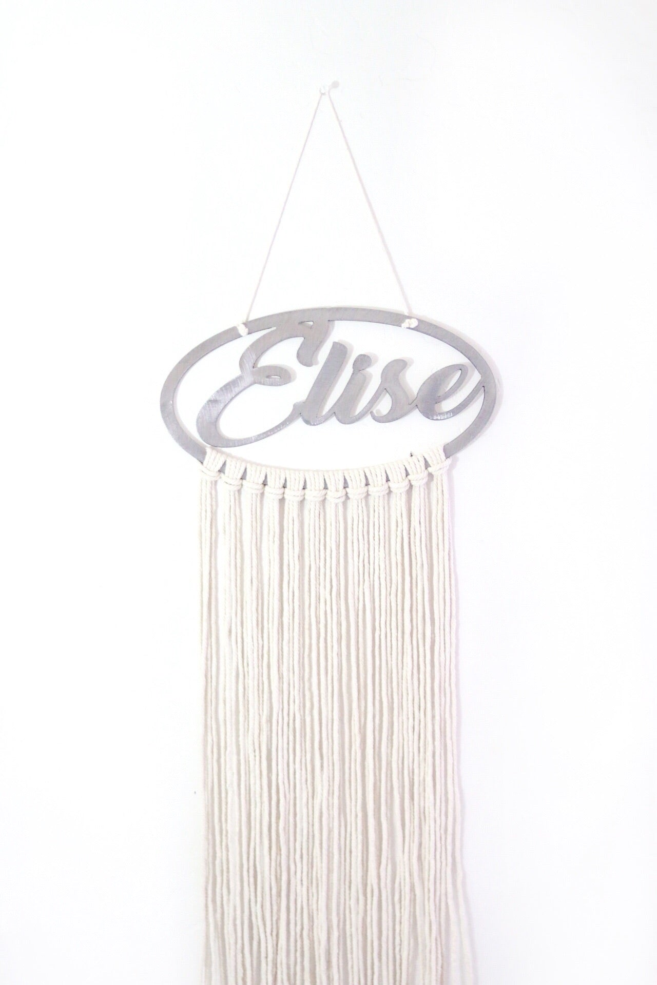 Personalized Macrame Bow Holder / Wall Hanging