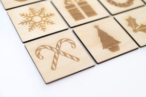 Wooden Christmas Memory Game