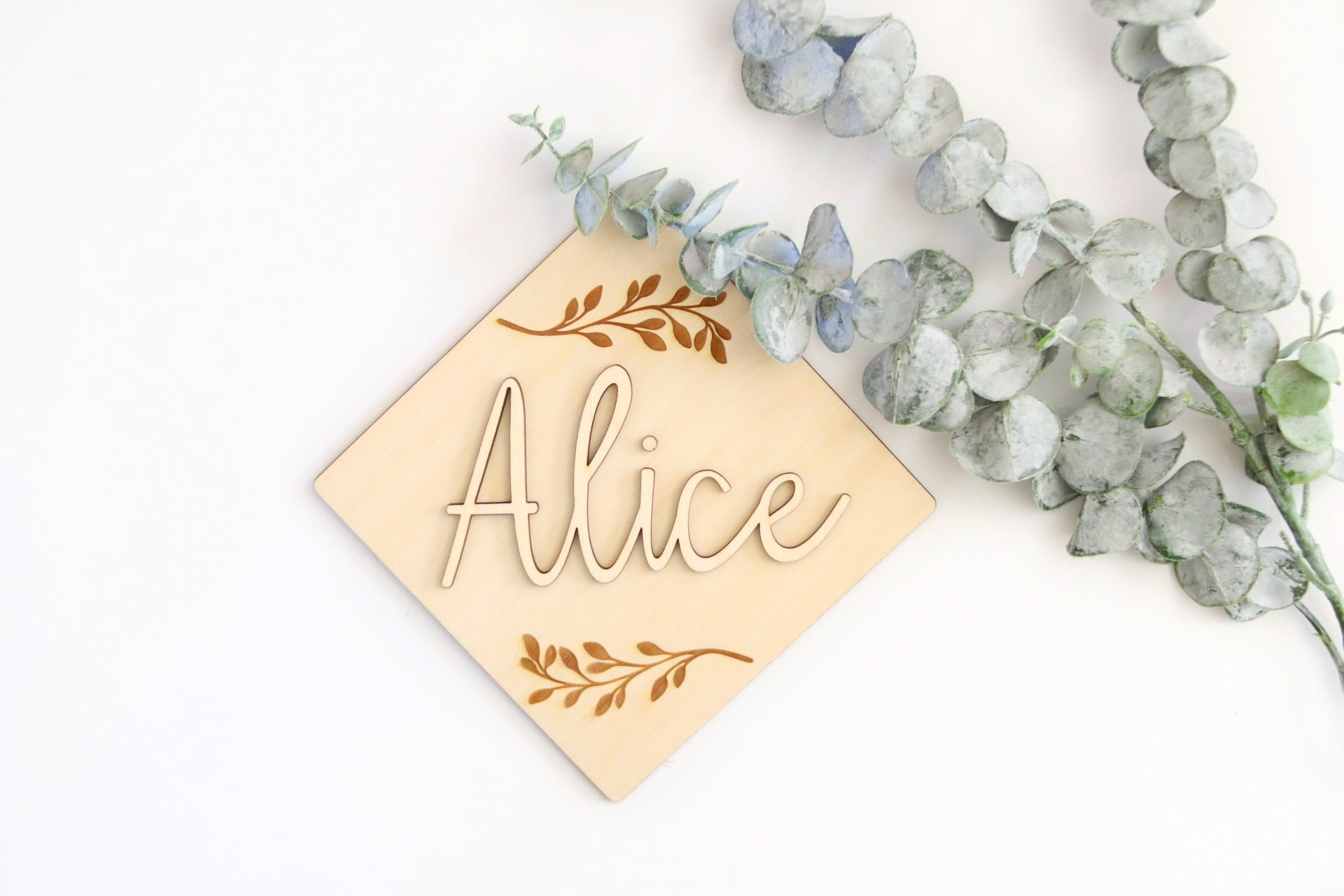 Floral Wooden Nursery Sign | Personalized