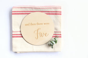 and then there were Five | Family Baby Reveal Announcement Card