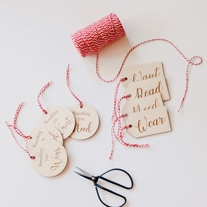 Want, Need, Read, Wear Tags