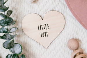 Little Love Heart Card | Wooden Photo Prop