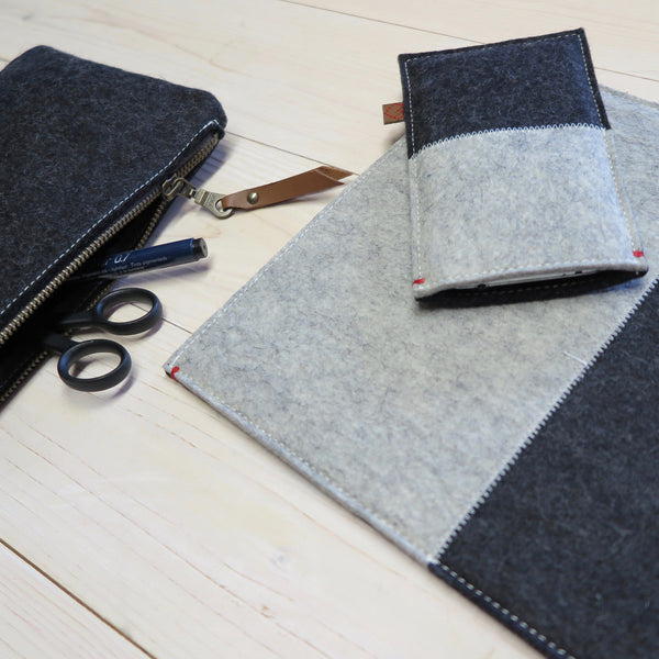 All natural wool felt accessories