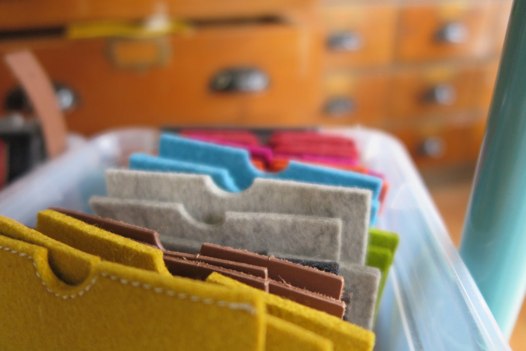 felt covers for iphone with colored pockets